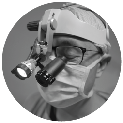 specialist equipment on dentists face